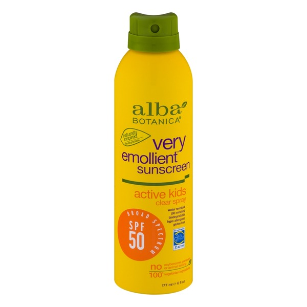 Alba Botanica Very Emollient Sunscreen Active Kids Clear Spray SPF 50