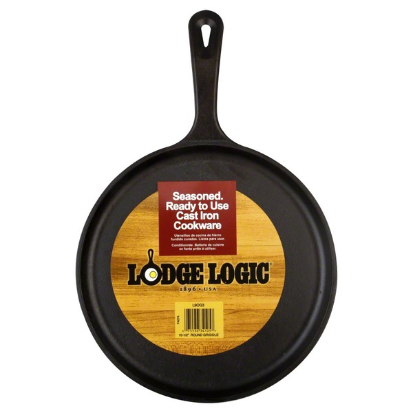 Lodge Griddle, Round, 10-1/2 Inch