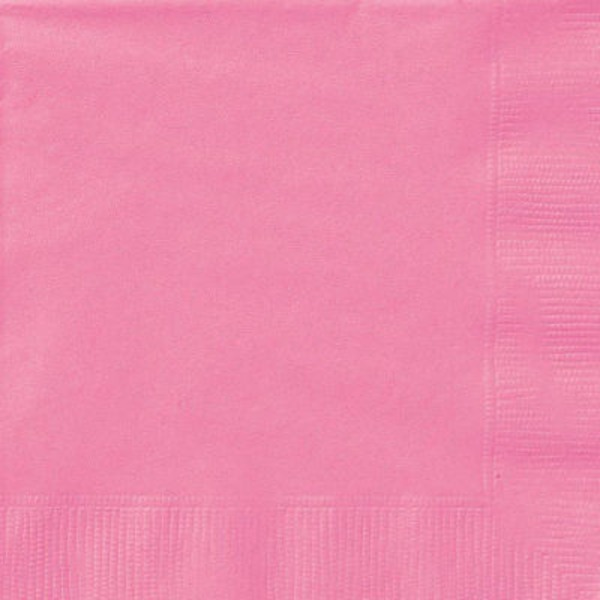 Unique Hot Pink 2 Ply Beverage Napkin