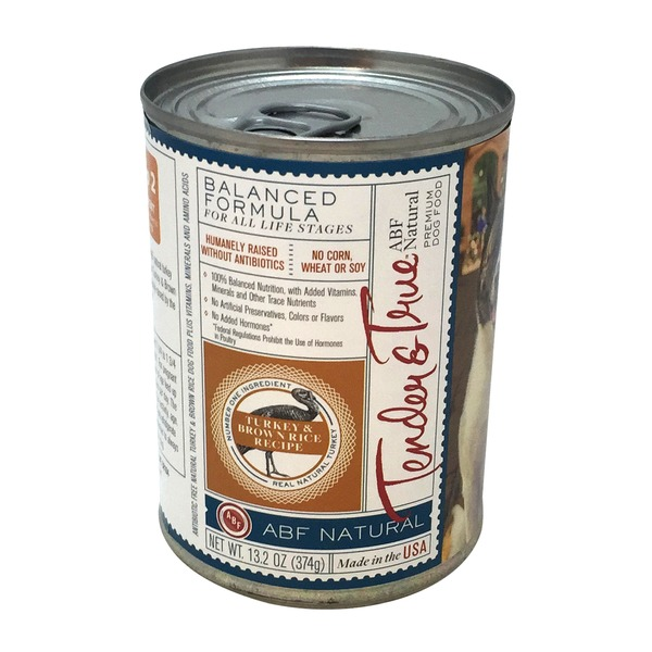 Tender And True Pet Food Natural Turkey & Brown Rice Dog Food