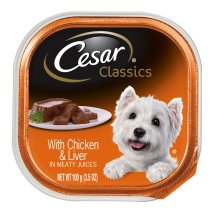 CESAR Canine Cuisine with Chicken and Liver Dog Food Trays 3.5 Ounces