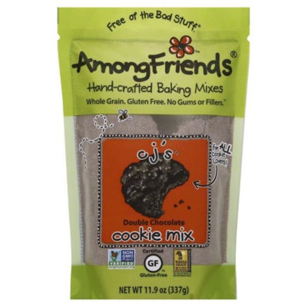 Among Friends Cj's Double Whole Grain Gluten Free Chocolate Cookie Mix