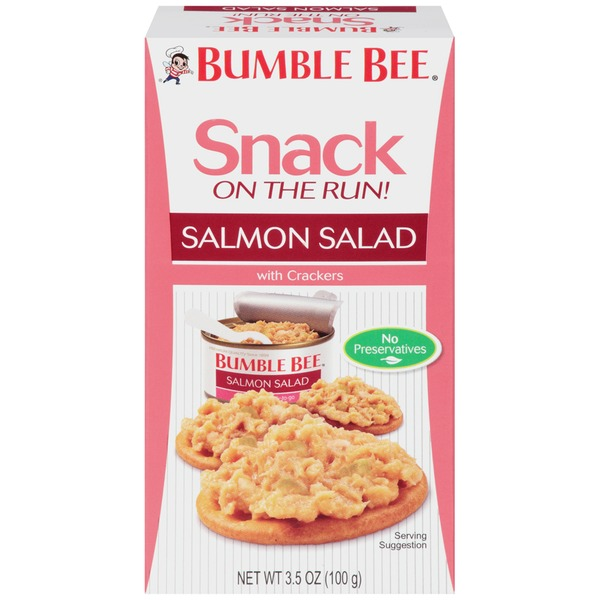 Bumble Bee Snack On The Run! With Crackers Salmon Salad