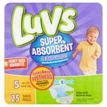 Luvs Super Absorbent Leakguards Diapers, Size 5, 25 Diapers