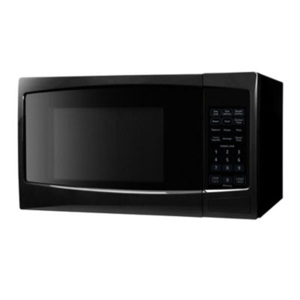 Chef Style Black Microwave