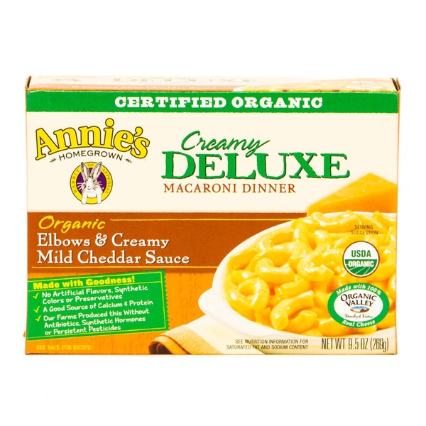 Annie's Homegrown Deluxe Organic Elbows & Creamy Mild Cheddar Sauce Mac & Cheese Creamy Deluxe Mac & Cheese