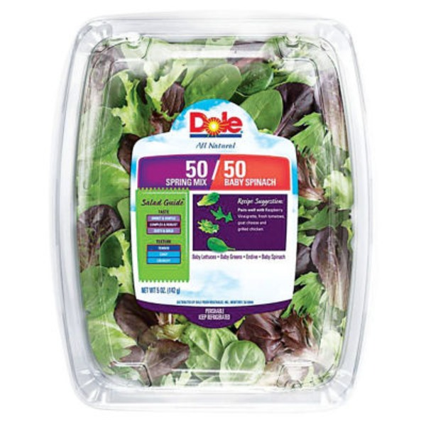 Dole 50/50 Spring Mix & Baby Spinach