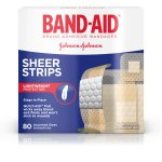 BAND-AID® Brand Sheer Strips Adhesive Bandages, Basic Care Assorted Sizes, 80 Count