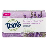 Tom's of Maine Natural Beauty Bar Lavender Tea Tree With Raw Shea Butter