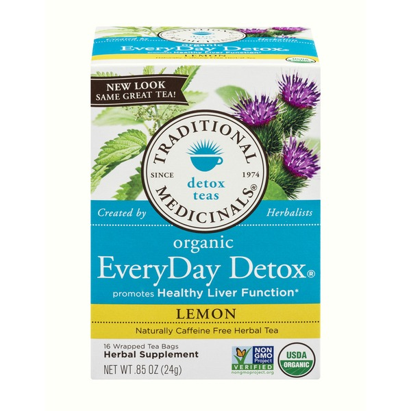 Traditional Medicinals Organic EveryDay Detox Lemon Herbal Tea