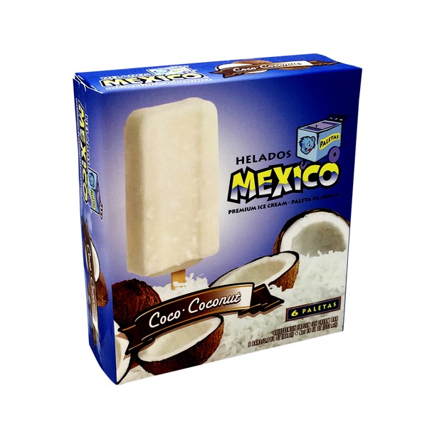 Helados Mexico Coco-Coconut Ice Cream Bars