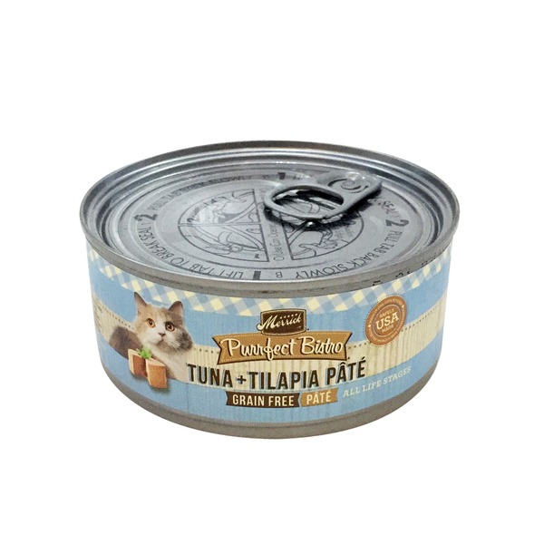 Merrick Gourmet Purrfect Bistro Grain Free Tuna and Tilapia Pate Cat Food