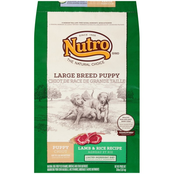 Nutro Wholesome Essentials Complete Daily Nutrition Small Bites Large Breed Puppy Pasture-Fed Lamb & Rice Recipe Dog Food