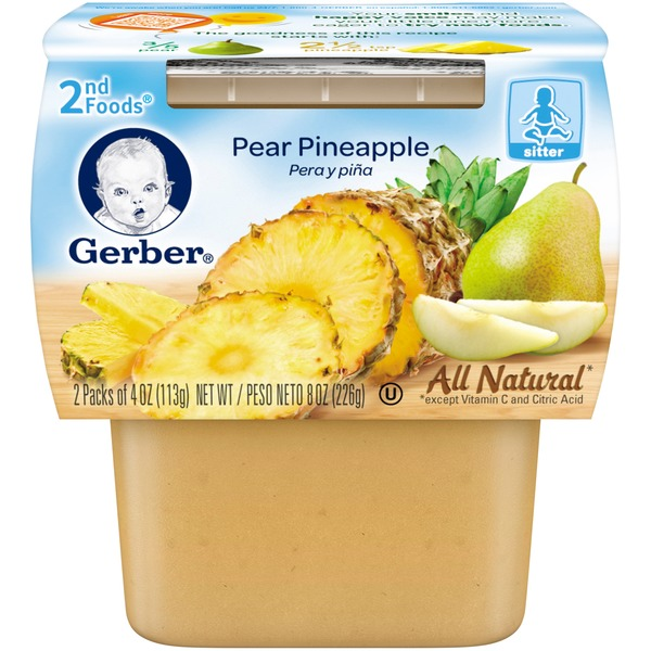 Gerber Pear Pineapple 2nd Foods