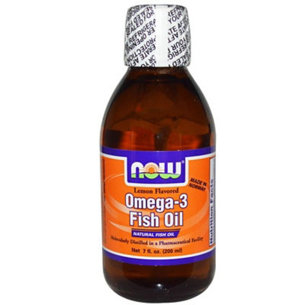 Now Liquid Lemon Flavor Omega 3 Fish Oil