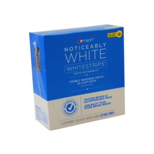 Crest Noticeably White Whitestrips 20 pc Dental Whitening Kit