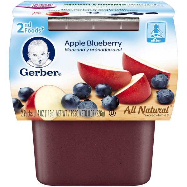 Gerber Foods Apple Blueberry Baby Food