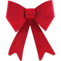 Holiday Time Velvet Everlast Bow Red