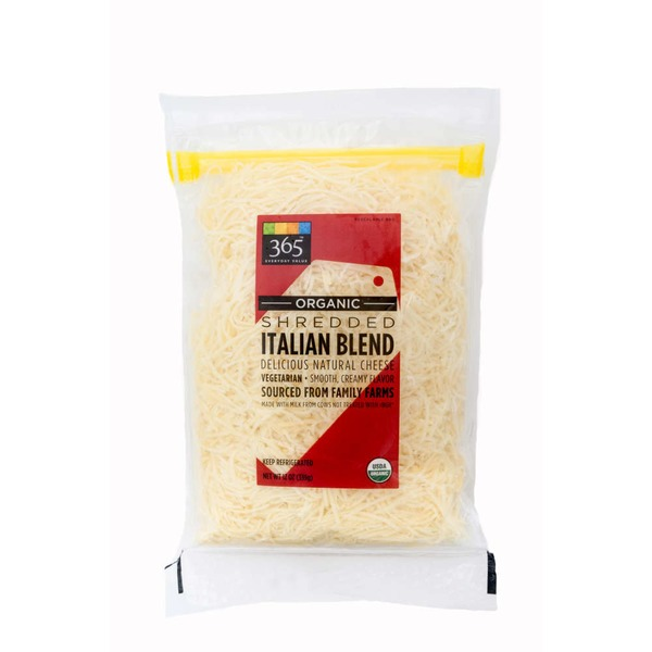 365 Organic Shredded Italian Blend Cheese
