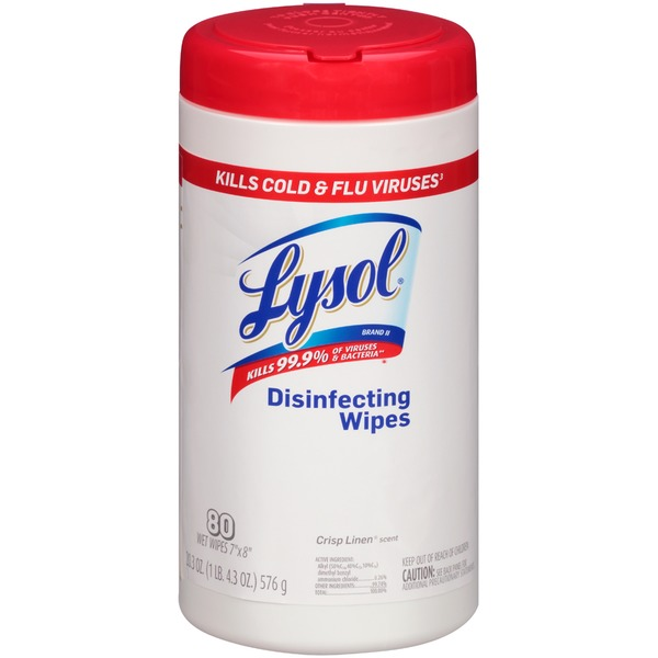 Lysol Crisp Linen Scent Disinfecing Wipes