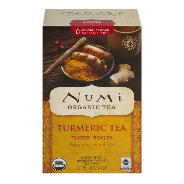 Numi Organic Turmeric Tea, Three Roots
