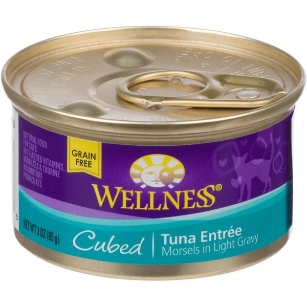 Wellness Cubed Canned Cuts Tuna Adult Canned Cat Food