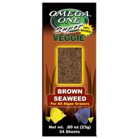 Omega One Super Veggie Brown Seaweed .8 Oz. 24 Sheets