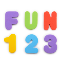 Munchkin Learn Bath Letters & Numbers-Primary, 36 Count