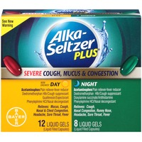 Alka-Seltzer Severe Cold, Mucus & Congestion Day & Night Liquid Gels Multi-Symptom Relief