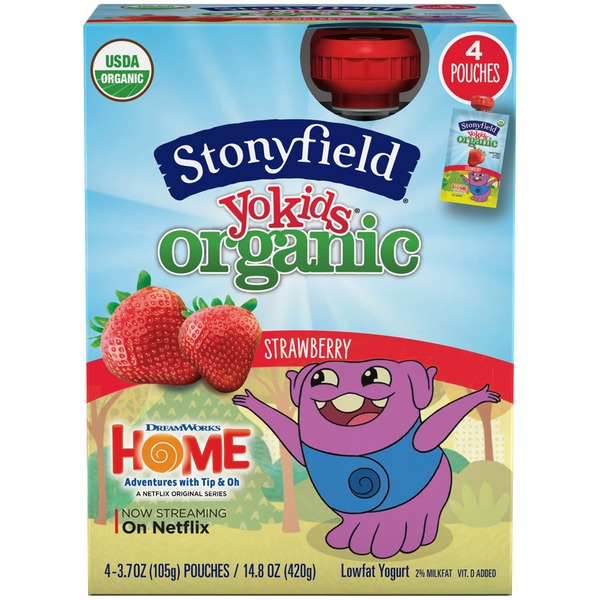 Stonyfield Organic Organic Yokids Strawberry Lowfat Yogurt
