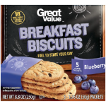 Great Value Breakfast Biscuits, Blueberry, 5 Count