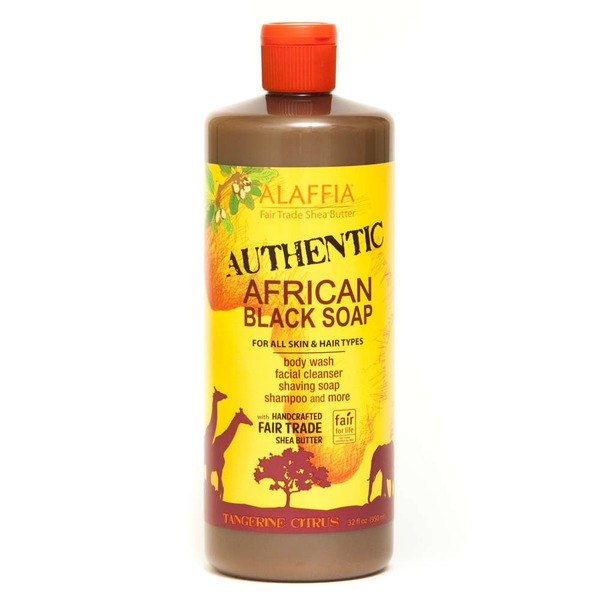 Alaffia African Black Soap Tangerine Body Wash