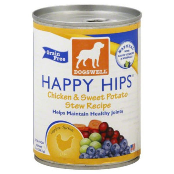 Dogswell Happy Hips Grain Free Dog Food Chicken & Sweet Potato Stew Recipe