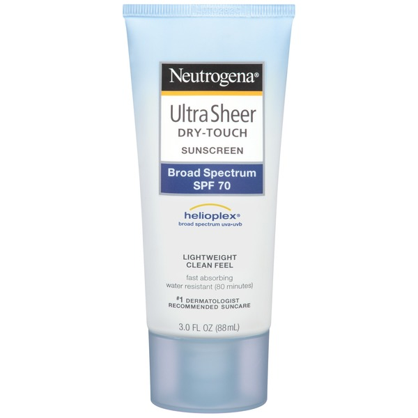 Neutrogena® Ultra Sheer Sunscreen, Dry-Touch, Broad Spectrum SPF 70