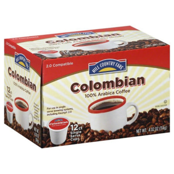 Hill Country Fare Colombian Single Serve Coffee Cups
