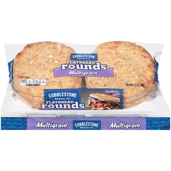 Cobblestone Mill Multigrain Flatbread Rounds