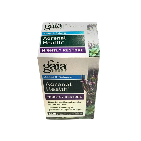 Gaia Adrenal Nightly Restore Vegan Liquid Phyto Caps