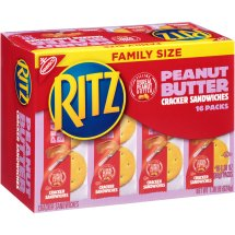 Nabisco Ritz Cracker Sandwiches, Peanut Butter, 22.08 Oz, 16 Ct
