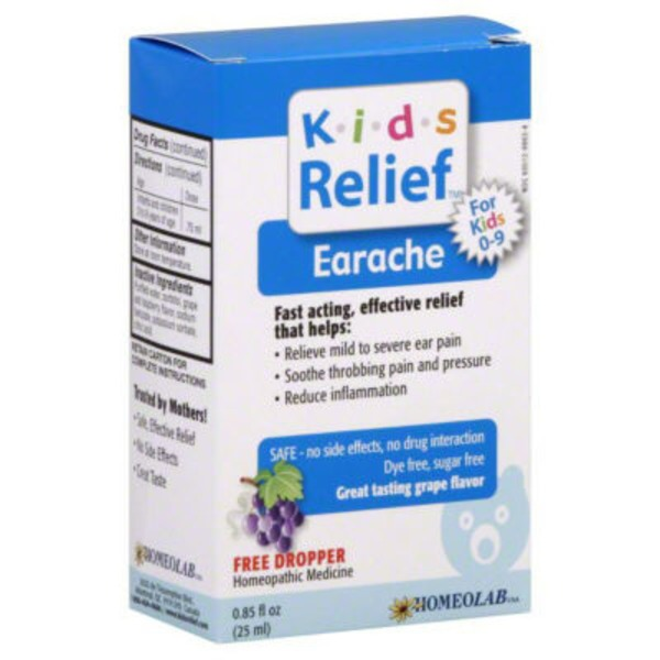 Kids Relief Earache, Grape Flavor
