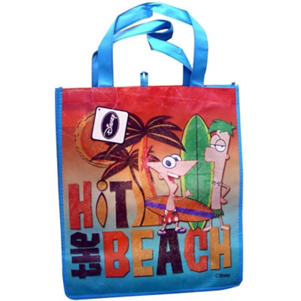 Disney Tote Bag Phineas & Ferb Hit The Beach