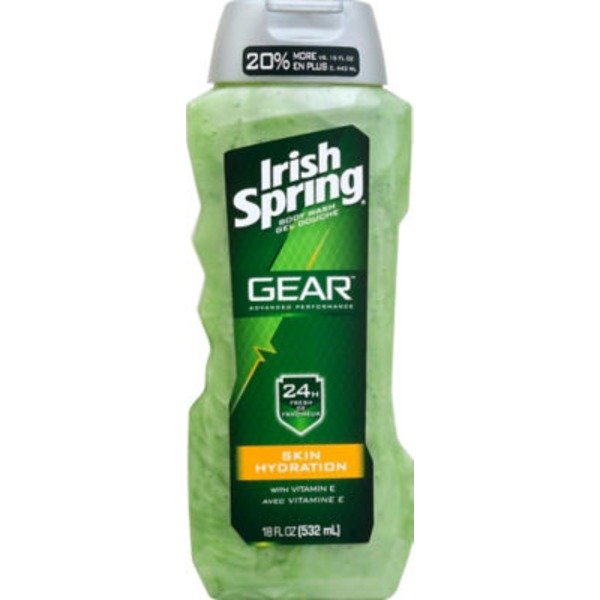 Irish Spring Gear 24 Hour Fresh Skin Hydration Body Wash