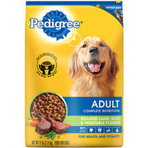Pedigree Complete Nutrition Adult Roasted Lamb Rice and Vegetable Flavor Dog Food