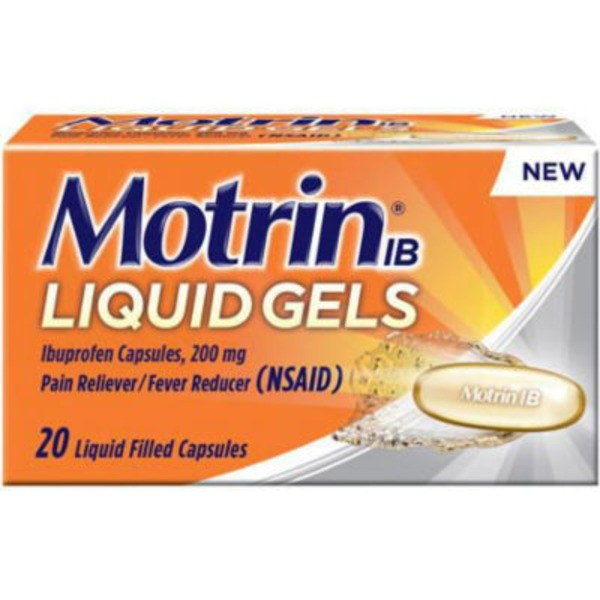 Motrin® Pain Reliever/Fever Reducer Liquid Gels IB