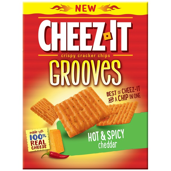 Cheez-It Grooves Hot & Spicy Cheddar Crispy Cracker Chips