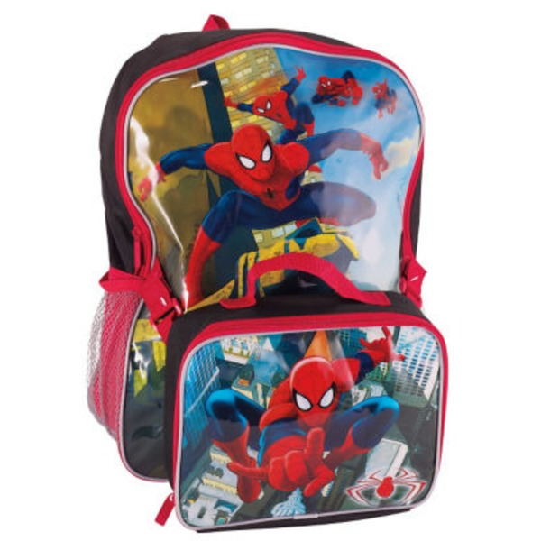 Marvel Spider Man Backpack With Lunch Kit