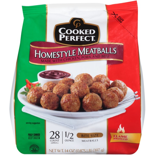 Cooked Perfect   Us Homestyle Bite Size Meatballs