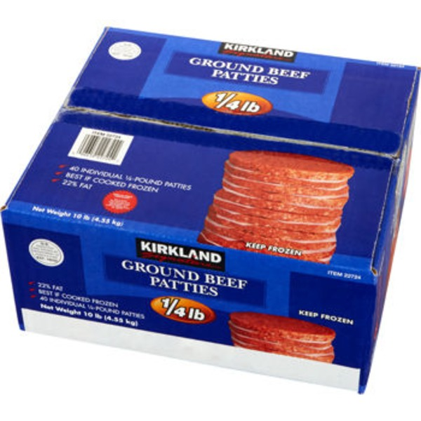 Kirkland Signature Ground Beef Patties