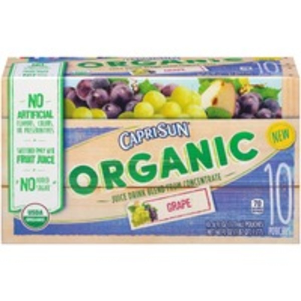 Caprisun Organic Grape Juice Drink