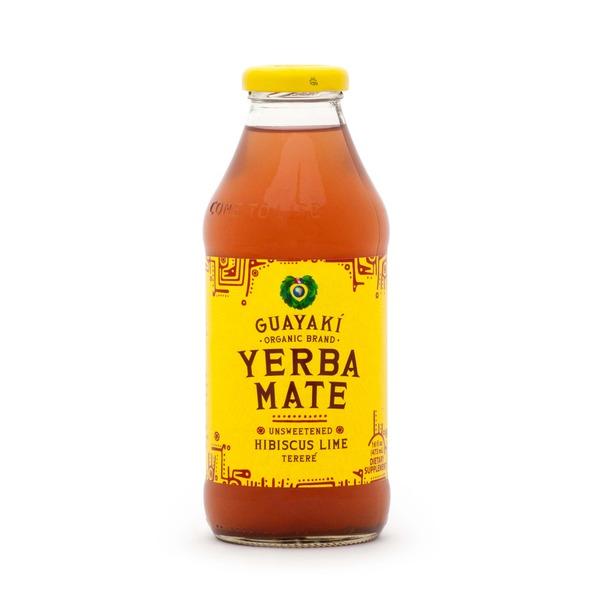 Guayaki Yerba Mate Hibiscus Lime Unsweetened Tereré