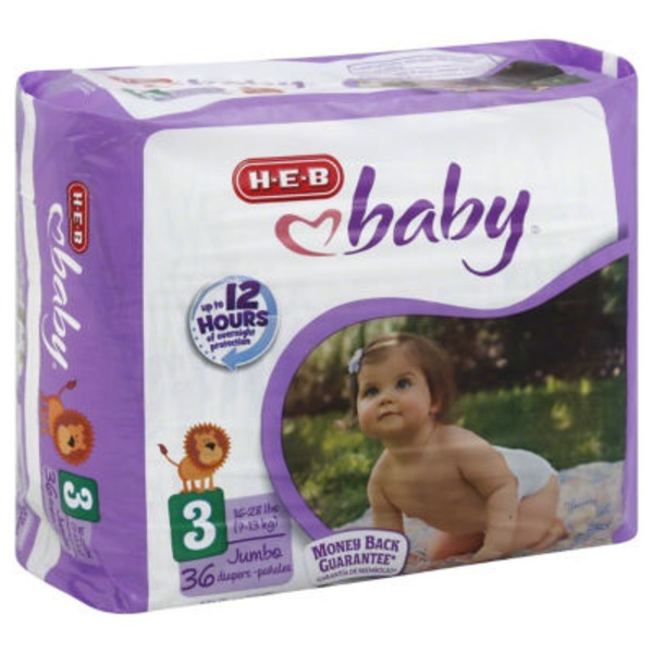 H-E-B Baby Jumbo Pack Diapers Size 3